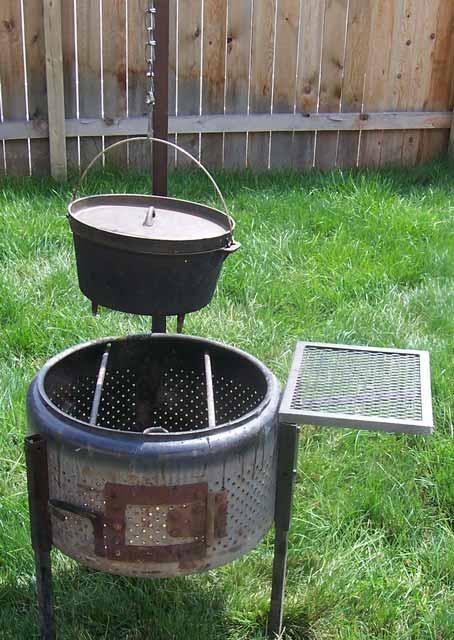 cookerwars.com...creative ways to use a washing machine tub as a fire pit - Cookerwars.com...creative Ways To Use A Washing Machine Tub As A